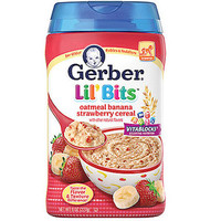 Walmart: Gerber Lil' Bits Oatmeal Banana Strawberry Cereal, 8 oz