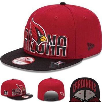DCCKUN7 Arizona Cardinals Nfl 2013 Squared Up 9fifty Cap Cap Snapback Hat - Ready Stock