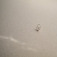 Fine silver nose stud, Heart shaped nose screw, L shaped end or screw end, Nose jewelry, Heart nose ring, Silver nose stud