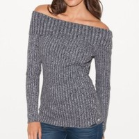 Amazon.com: G by GUESS Lavandula Foldover Sweater: Clothing