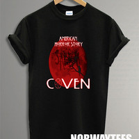 Coven Shirt  Printed on Black and White t-Shirt For Men Or Women Size X 04