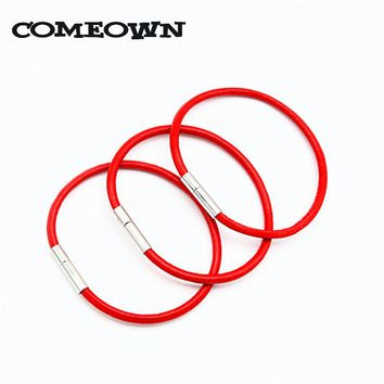 COMEOWN 2017 Women's Fashion Bracelets 2pcs Real Leather Cord Bracelet 3mm 16-25cm Red Thread Jewelry Bracelets & Bangles