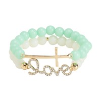 Love Cross Stretch Bracelet 2-Pack