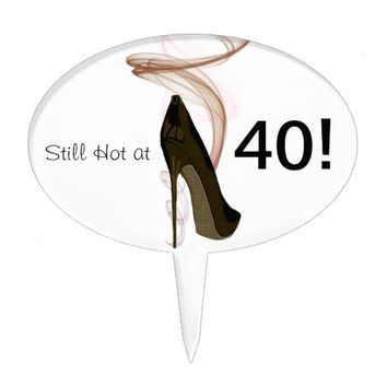 Smokin Stiletto Shoe Art Cake Topper