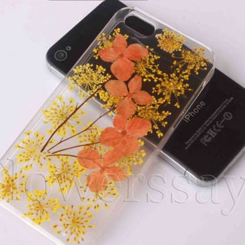 iPhone 6 case iPhone 6 plus Pressed Flower, iPhone 5/5s case, iPhone 4/4s case, 5c case Galaxy S4 S5 Note 2 note 3 Real Flower case NO:F281