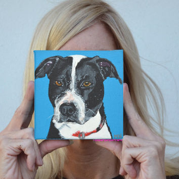 Custom dog portrait Dog painting Custom Pet Paintings  Pet Portrait  Boxer art Dog art Custom Pet Portrait Original dog paintings