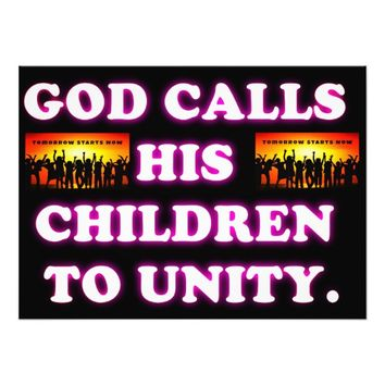 God Calls His Children To Unity. Photo Print