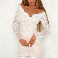 Romance Realised Dress White