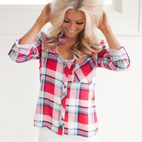 Clever in Plaid Top