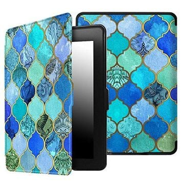 Fintie SmartShell Case for Kindle Paperwhite - The Thinnest and Lightest Cover Auto Sleep/Wake for All-New Amazon Kindle Paperwhite (Fits All 2012, 2013, 2015 and 2016 Versions), Cool Jade