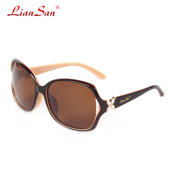 2016 New Women Sunglasses Classic Plate Polarized Retro Diamond Butterfly Leg Driving Eyeglasses LSP6210 Free Shipping