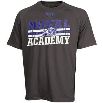 Navy Midshipmen Under Armour Slant Performance T-Shirt - Charcoal