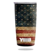 Protective Vinyl Skin Decal for YETI 20 oz Rambler Tumbler wrap cover sticker skins Vintage Flag DECAL ONLY