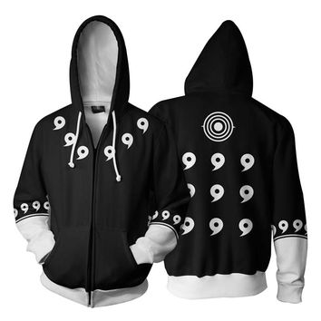 Cloudstyle 3D Zip Up Hoodies Men Naruto 3D Print Cosplay Clothing Sweatshirt Thin Coat Hoody Streetwear Zipper Jacket Hipster