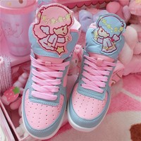 Anime Harajuku Cute Lolita Girls Little Twin Star High Top Shoes Casual