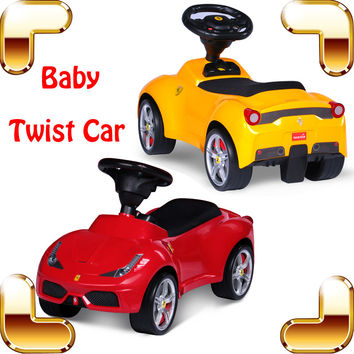 New Year Gift LF Baby Twist Car Ride On Toy Cars For Kids Children Safety Four Wheel Swing Vehicle Slide Walker Outdoor