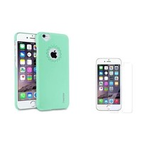 "Insten Mint Green Heart Back Clip On Hard case For Apple iPhone 6 4.7"" 4.7 Inches+Screen Protector - Walmart.com"