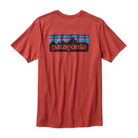 Patagonia Men's P-6 Logo Cotton T-Shirt- Sumac Red