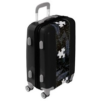 Missing Black Jigsaw Puzzle Pieces Photograph Luggage