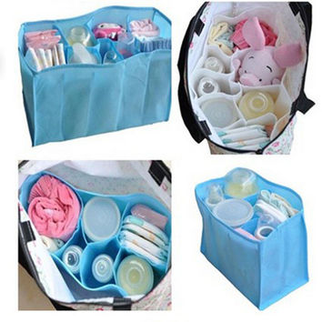 HOT Baby Diaper Nappy Water Bottle Changing Divider Storage Organizer Bag Liner