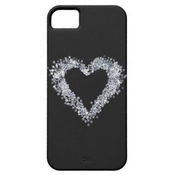 Girly chic Diamond love heart iPhone 5 Case