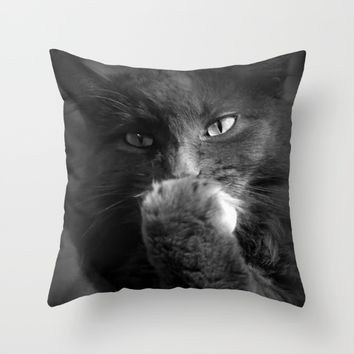 keeping secret Throw Pillow by Marianna Tankelevich