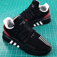 Adidas Eqt Basketball Adv Black White Red Sport Running Shoes - Best Online Sale