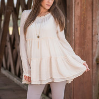 Savvy Sanctuary Blouse, Natural