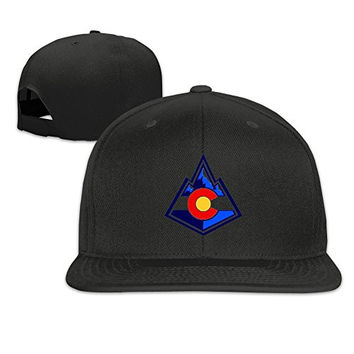 Colorado Flag Rocky Mountain Fitted Hat Baseball Caps