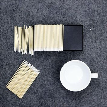 100pc 7.5cm/10cm Cotton Swab Health Makeup Cosmetics Ear Clean Cotton Swab Stick