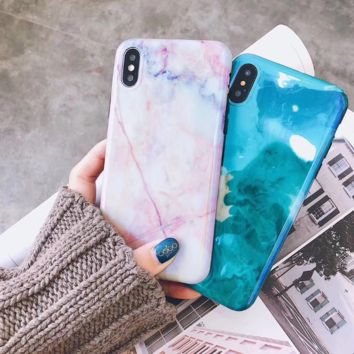 Bling Marble Pattern Radiant Iphone X/8 8 Plus/7 7 Plus/ 6 6s Plus Cover Case