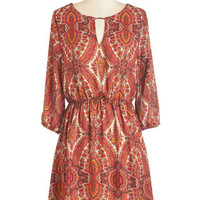 ModCloth Boho Mid-length 3 A-line Livin' La Vida Local Dress