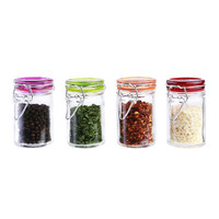 Kinetic GoGreen Glass 4 Piece Mini Jar Set