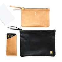 Vale Pouch | Black Leather