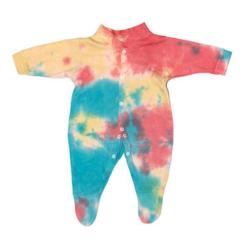 Rainbow Baby Onesuit - Hand Dyed Cotton Rainbow Baby Grow - Kameleon Kids Baby Boutique