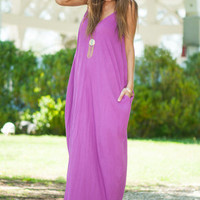 Good To Flow Maxi Dress, Purple