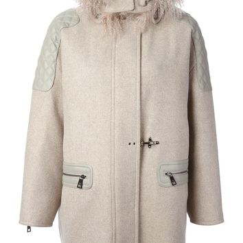 Fay trimmed hood quilted details coat