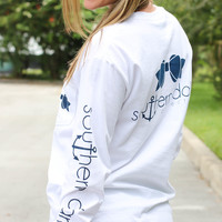 Southern Darlin' - Classic White Long Sleeve