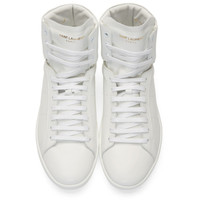 White SL/01H High-Top Sneakers