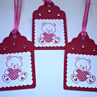 Valentine Gift Tags - Teddy