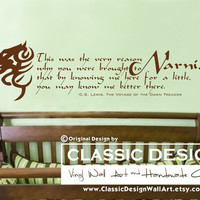 Vinyl Wall Decal - Know me better, Aslan, Narnia, C.S. Lewis