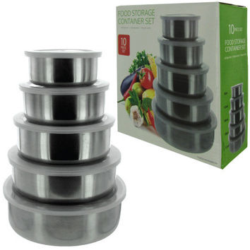 Nesting Metal Food Storage Container Set ( Case of 4 )