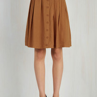 Safari, Scholastic Mid-length A-line Nutmeg Latte Skirt