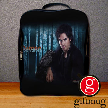 The Vampire Diaries Damon Salvatore Backpack for Student