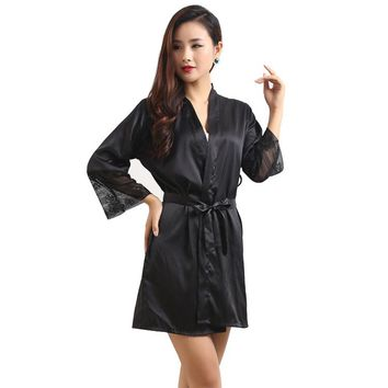 Women Lingerie Strap Semi-Sheer Silk Soft Robe and Nightgown Sets Long Nightwear Pyjamas Femme Pijamas Mujer Summer 620