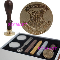 Harry Potter Hogwarts School Badge Vintage Wax Seal Stamp Rosewood Set
