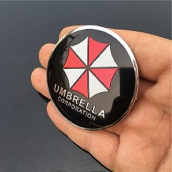 4pcs 56mm UMBRELLA CORPORATION Resident Evil For Car Emblem Wheel Center Hub Cap Resin Badge wheel Decal Sticker