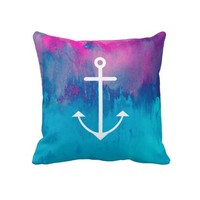 Ombre Nautical Throw Pillows from Zazzle.com