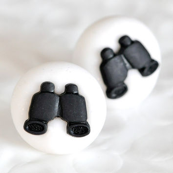 Tiny Binoculars Bird Watcher Safari Spy Post by CreaShines on Etsy