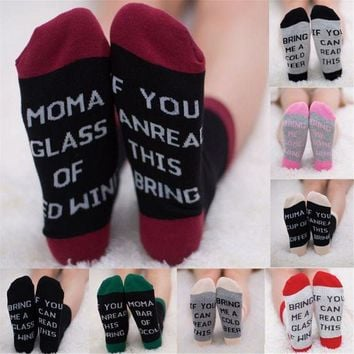 ONETOW Uk Unisex IF YOU CAN READ THIS BRING ME A BEER Fashion Socks Cotton Funny Socks